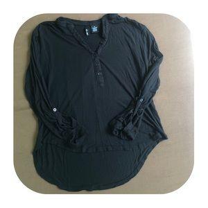 Ultra Flirt Black Blouse Size Medium